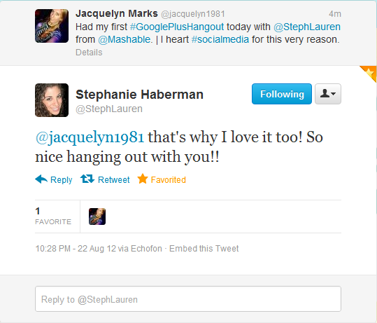 Stephanie Haberman - Mashable - Twitter