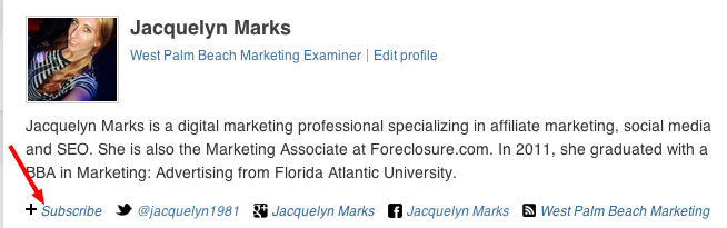 Jacquelyn Marks - West Palm Beach Marketing Examiner